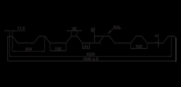 Trapezoid Panel RP-45 - 3