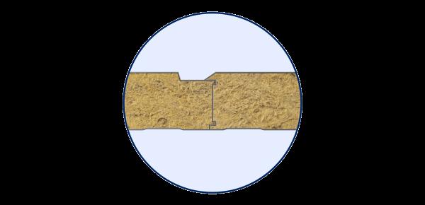 Стінові вогнестійкі сендвіч-панелі Тип PR 1 - 5