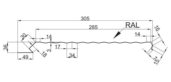 Еврофасад ТИП В/305 рифленый - 3