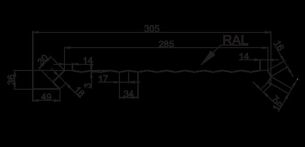 Єврофасад ТИП В/305 рифлений - 3