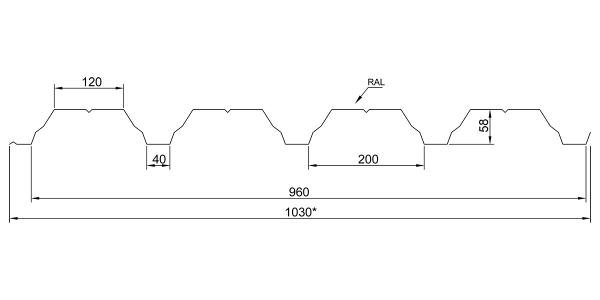 Профнастил несучий ПН-60 - 3