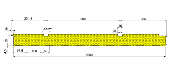 Стінові вогнестійкі сендвіч-панелі Тип PR 2 - 5