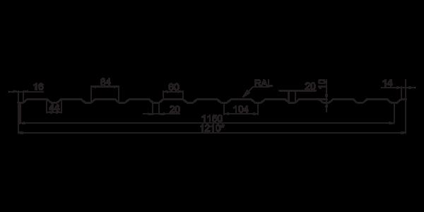 Профнастил стеновой ПС-10 - 3