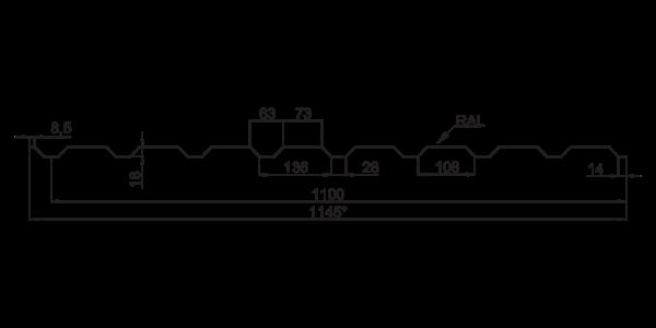 Профнастил стіновий ПС-20 - 3