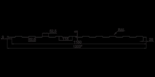Профнастил  стіновий  ПС-8 - 3