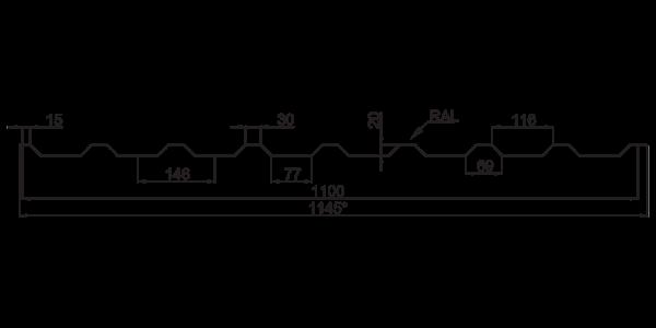 Профнастил покрівельний ПК-20 - 3