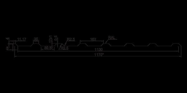 Профнастил покрівельний ПК-20 ПЛЮС - 4