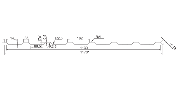 Профнастил покрівельний ПК-20 ПЛЮС з накатом - 4