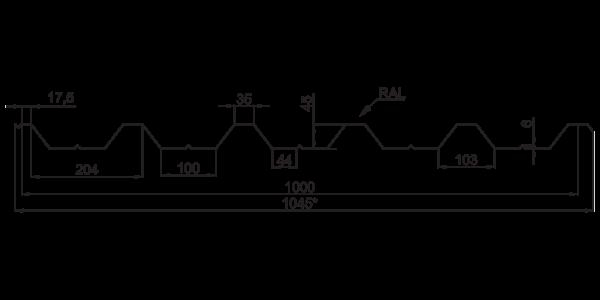 Профнастил покрівельний ПК-45 - 3