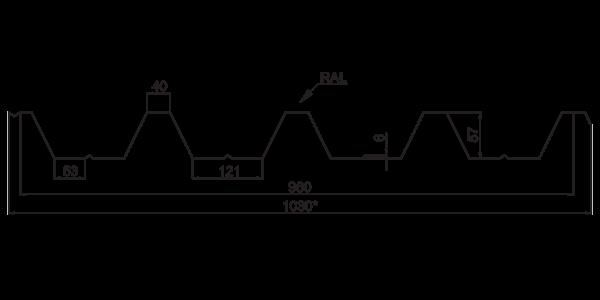 Профнастил покрівельний ПК-57 - 3