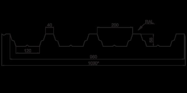 Профнастил покрівельний ПК-60 - 3