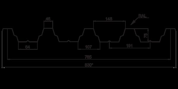 Профнастил покрівельний ПК-75 - 3