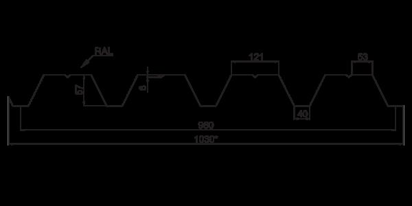 Профнастил несучий ПН-57 - 3