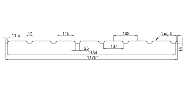 Профнастил стeновой ПС-15 (с накатом и без наката) - 5