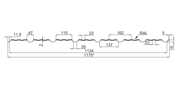 Профнастил стeновой ПС-15 (с накатом и без наката) - 6