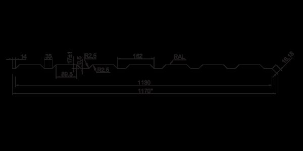Профнастил стеновой ПС-20 ПЛЮС - 4