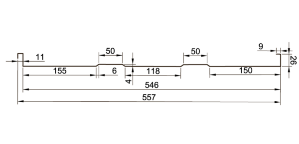 Фальц трапецевидный - 4